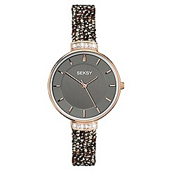 Sekonda - Ladies black 'seksy' fashion watch 2579.39