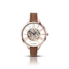 Sekonda - Ladies brown skeleton effect watch 2315.28
