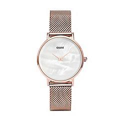 Cluse - Rose gold 'Minuit La Perle' watch CL30047
