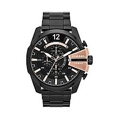 Diesel - Men's 'Mega chief' black dial & bracelet watch dz4309