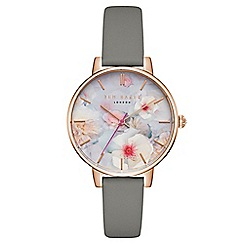 Ted Baker - Ladies grey 'Chelsea' analogue watch tec0025007