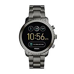 Fossil - Explorist smoke stainless steel smart watch