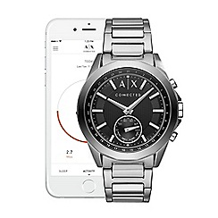 Armani Exchange - Connected silver stainless steel hybrid smart watch