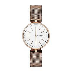 Skagen - Signatur rose gold mesh hybrid smart watch