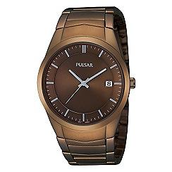 Pulsar - Men's bronze stainless steel watch ps9155x1
