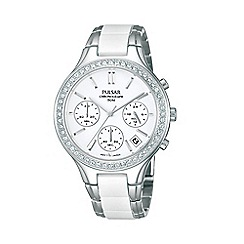 Pulsar - Ladies stainless steel chronograph watch pt3305x1