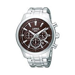 Lorus - Men's stainless steel chronograph watch rt359ax9