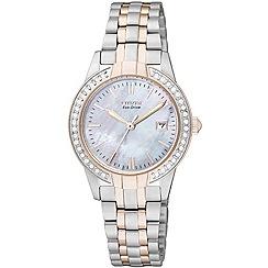 Citizen - Ladies silhouette crystal bracelet Eco-Drive watch EW1686-59D