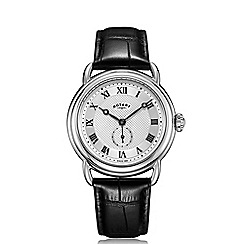 Rotary - Men's black 'Canterbury' leather strap watch