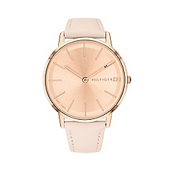Tommy Hilfiger - Ladies pink 'Pippa' analogue leather strap watch 1781936