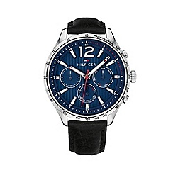 Tommy Hilfiger - Men's black 'Gavin' analogue leather strap watch 1791468