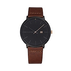 Tommy Hilfiger - Men's brown 'James' analogue leather strap watch 1791461