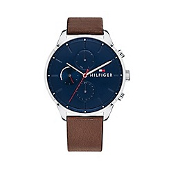 Tommy Hilfiger - Men's brown 'Chase' analogue leather strap watch 1791487