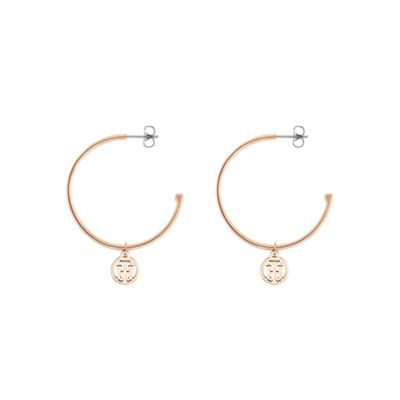 Tommy Hilfiger   Gold 'classic Signature' Hoop Earrings by Tommy Hilfiger