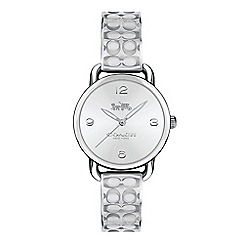 Coach - Ladies silver 'Delancey' analogue bangle watch