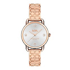 Coach - Ladies rose gold 'Delancey' analogue bangle watch