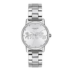 Coach - Ladies silver 'Grand' analogue bracelet watch
