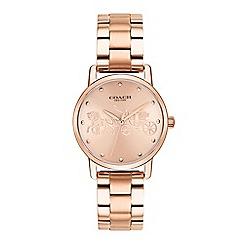 Coach - Ladies rose gold 'Grand' analogue bracelet watch