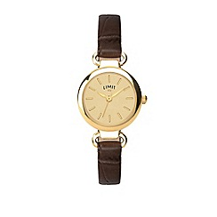 Limit - Ladies brown analogue strap watch