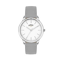 Limit - Ladies grey analogue strap watch