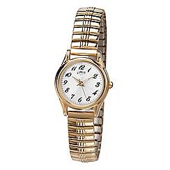 Limit - Ladies gold analogue expander bracelet watch