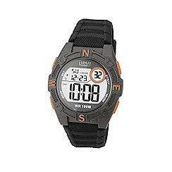 Limit - Men's black digital silicone strap watch