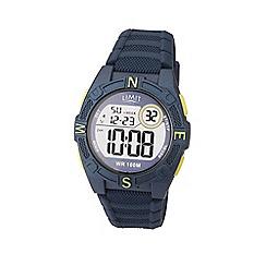 Limit - Men's blue digital silicone strap watch