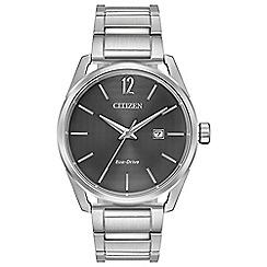 Citizen - Men's silver 'Eco-Drive' analogue bracelet watch BM7410-51H