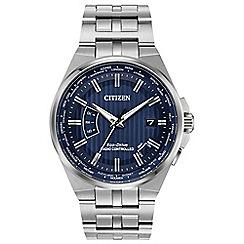 Citizen - Men's silver 'Eco-Drive' radio controlled bracelet watch CB0160-51L
