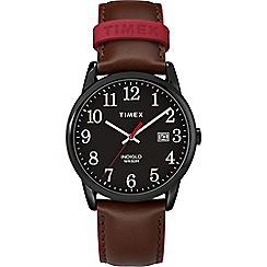 Timex - Men's brown 'Easy Reader' analogue leather strap watch TW2R62300