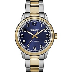 Timex - Men's silver and gold analogue bracelet watch TW2R36600