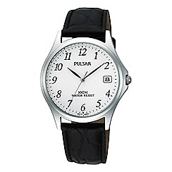 Pulsar - Men's black analogue leather strap watch PXH565X1