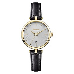 Barbour - Ladies black 'QA' analogue leather strap watch BB071SLBK