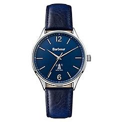 Barbour - Men's blue 'QA' analogue leather strap watch BB079BLBL