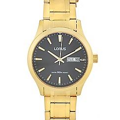 Lorus - Mens' gold bracelet watch 'RXN64DX9F'