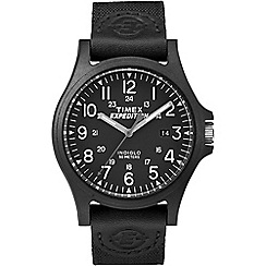 Timex - Men's black 'Expedition Arcadia' analogue strap watch TW4B08100