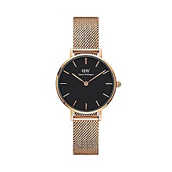 Daniel Wellington - Ladies rose gold 'Classic Petite Melrose' analogue bracelet watch