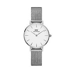 Daniel Wellington - Ladies silver 'Classic Petite Sterling' analogue bracelet watch