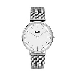 Cluse - Ladies silver 'LA Boheme' analogue bracelet watch CL18105