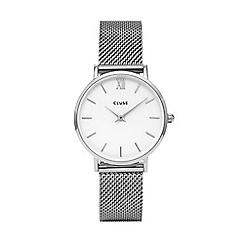 Cluse - Ladies silver 'Minuit' analogue bracelet watch CL30009