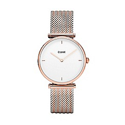 Cluse - Ladies rose gold and silver 'Triomphe' analogue bracelet watch CL61003