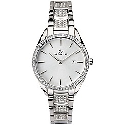 Accurist - Ladies silver Swarovski« crystal analogue bracelet watch 8216