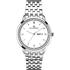 Accurist - Men's silver analogue bracelet watch 7240