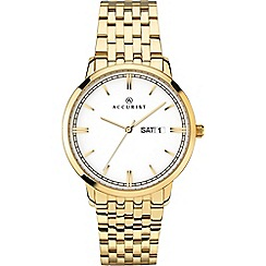 Accurist - Men's gold analogue bracelet watch 7242