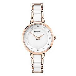 Sekonda - Ladies white and rose gold analogue bracelet watch 2643.28