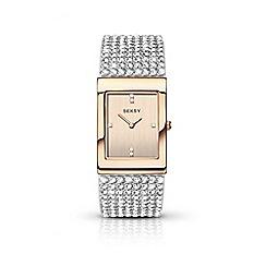 Sekonda - Ladies white and rose gold analogue Swarovski« crystal fashion bracelet watch 2376.37