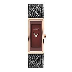 Sekonda - Ladies black analogue Swarovski® crystal fashion bracelet watch 2576.37