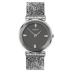 Sekonda - Ladies grey analogue Swarovski« crystal fashion bracelet watch 2668.37