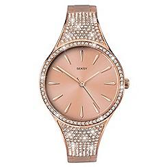 Sekonda - Ladies rose gold analogue Swarovski« crystal fashion bracelet watch 2669.37