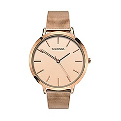 Sekonda - Ladies rose gold analogue fashion bracelet watch 2475.28